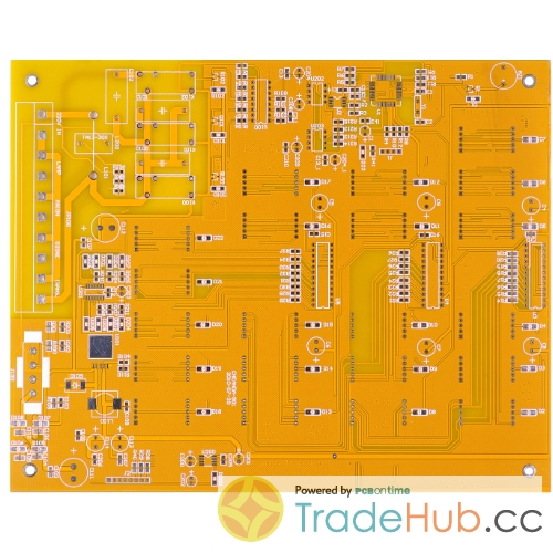 Double-sided PCB Yollow SM HASL Lead Free PCB